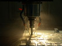 High Speed Milling Machine Royalty Free Stock Photo