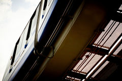 High speed monorail train. Royalty Free Stock Images