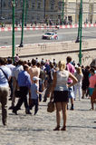 High speed  Moscow City Racing  Many viewers  July Royalty Free Stock Photography