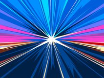 High speed motion in highway tunnel background. Vector illustration. High speed motion in highway tunnel background. Vector simulation of night highway traffic Royalty Free Stock Photography