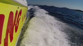 High speed motorboat stock video