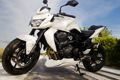 High speed motorcycle Royalty Free Stock Images
