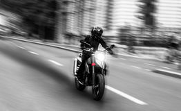 High speed motorcycle concept Stock Photography