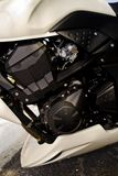 High speed motorcycle engine detail Royalty Free Stock Image