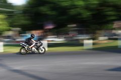 High-Speed Motorcycle Royalty Free Stock Photography