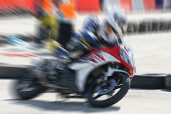 High speed movement of motorbike racing. For sport concept Stock Image