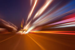 High-speed movement at night Royalty Free Stock Image