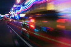 High-speed movement at night Royalty Free Stock Images