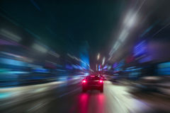 High-speed movement at night Stock Photos