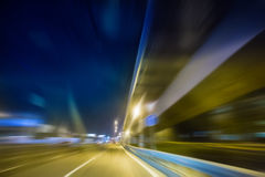 high-speed movement at night Stock Image