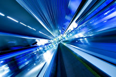 High-speed moving escalator Stock Image