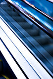 High-speed moving escalator Royalty Free Stock Photos