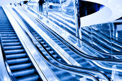 High-speed moving escalator Stock Photos