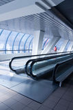 High-speed moving escalator Stock Photo