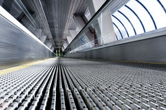 High-speed moving escalator Royalty Free Stock Photography
