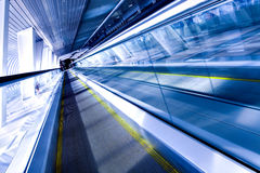 High-speed moving escalator Royalty Free Stock Images