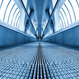 High-speed moving escalator Stock Images