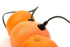 High-speed orange friendship Royalty Free Stock Photography