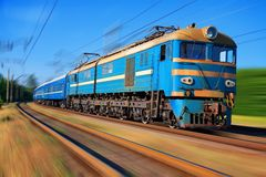 High speed passenger train Stock Photo
