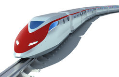 High-speed passenger train. Over white Royalty Free Stock Photo