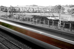 High speed passenger train abstract Stock Images
