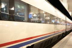 High speed passenger train royalty free stock photo