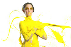 High Speed Photography of Woman With Liquid Paint Royalty Free Stock Photo