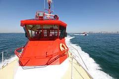 A high-speed pilot boats Stock Image