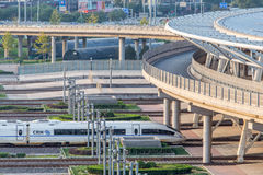 High speed rail. Beijing high-speed train station Stock Photos
