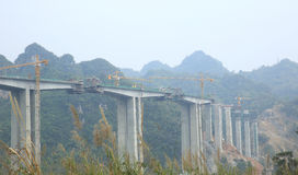 High-speed rail construction Stock Photo
