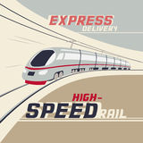 High-speed rail Royalty Free Stock Images