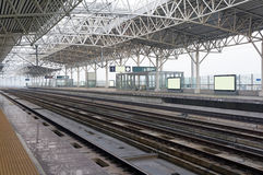 High-speed rail station. In China stock photos