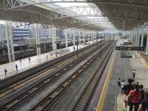 High-speed rail station Royalty Free Stock Photo