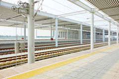 High Speed ??Rail station Royalty Free Stock Photography