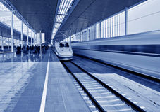 High Speed ??Rail station Stock Images