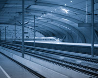 High speed rail station Royalty Free Stock Photo