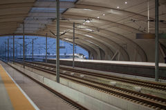 High speed rail station Stock Images