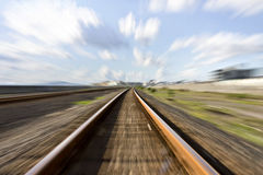 High speed rail tracks Stock Photos