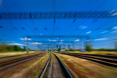 High speed on railroad Stock Image