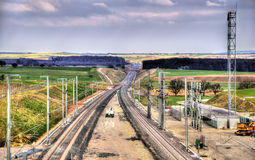 High-speed railway LGV Est phase II under construction near Save Royalty Free Stock Photography
