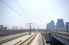 High speed railway station Royalty Free Stock Photography