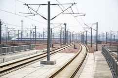 High speed railway station Royalty Free Stock Images