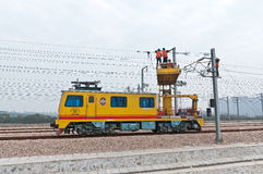 High speed railway workers Royalty Free Stock Image
