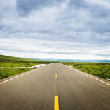 High speed road with cloud Stock Image