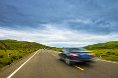 High speed road with cloud Royalty Free Stock Photography