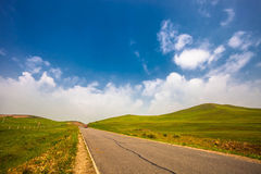 High speed road with sky Royalty Free Stock Photos