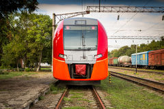 High speed russian train Royalty Free Stock Photos