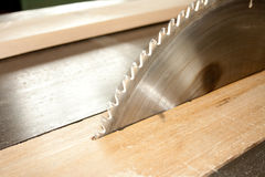 The high speed of the saw blade. Stock Photo