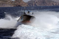 Fast boat of the Spanish Customs Service. Stock Photography