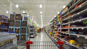 High Speed shopping stock video footage